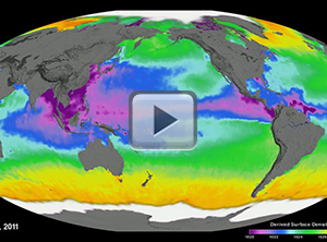 Aquarius Sea Surface Density (Mollweide)