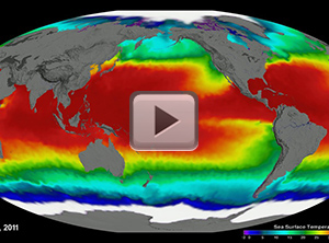 Aquarius Sea Surface Temperature (Mollweide)