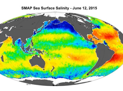 SMAP sea surface salinity data